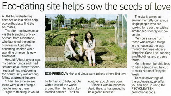 Eco Lovers in Kent News - 19th June 2011